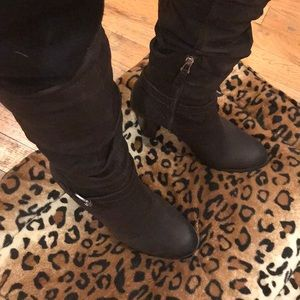 Brown Leather Guess Boot